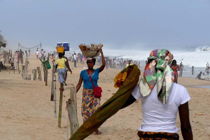 Ivoiriens à la plage malgré la présence du Coronavirus